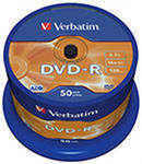 DVD±R, DVD±RW диски DVD-R Disc Verbatim 4.7Gb 16x уп. 50 шт. на шпинделе 43548