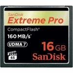 Карты CompactFlash SanDisk SDCFXPS-016G-X46 CompactFlash Card 16Gb Extreme Pro