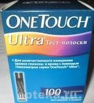 Тест-полоски one touch ultra n100/4х25/
