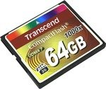 Карта памяти   Transcend   TS64GCF1000   CompactFlash  Card 64Gb 1000x