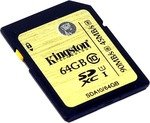 Карта памяти  Kingston   SDA10/64GB   SDXC Memory Card  64Gb UHS-I U1