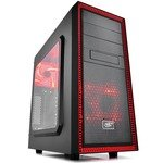 Корпус  Miditower Deepcool TESSERACT SW RED   DP-ATX-TSRBKRD   Black ATX  без  БП,  с окном