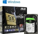 платформа ASUS H110M-K/ Seagate ST1000DM010/ Windows 10  Home  SL  (OA3)
