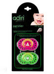 Пустышка Adiri Logo Pacifiers (2 шт), pink and green AD015PG-2135C