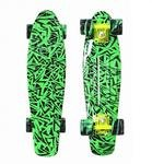 Пенни борд Y-SCOO Penny board RT 22 Print Green Elka (green/mix)