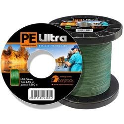 Шнур плетеный PE Ultra Dark Green 1500m (035mm3210kg)