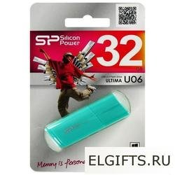 USB флеш-диск 32GB Silicon Power Ultima 06 морская волна