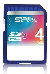 SDHC 4Gb Silicon Power Class 4 - карта памяти