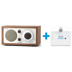 Радиоприемник Model One walnut/beige + ipod/iphone Connector frost white/white