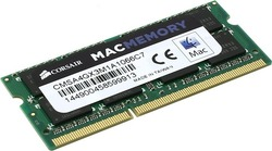 Модуль памяти  Corsair Mac Memory   CMSA4GX3M1A1066C7   DDR-III SODIMM 4Gb   PC3-8500   CL7 (for NoteBook)