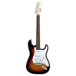Fender Squier Bullet Strat Tremolo HSS - RW - Brown Sunburst