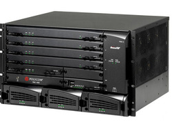 RMX 4000 IP only 7HD1080p15HD720p30SD45CIF resource configured & licensed system equipped with one (1) MPMx-D Media Processing Modules. DC Power