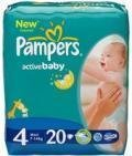 Подгузники PAMPERS Active Baby Maxi 7-18 кг., 20 шт. (81341009)