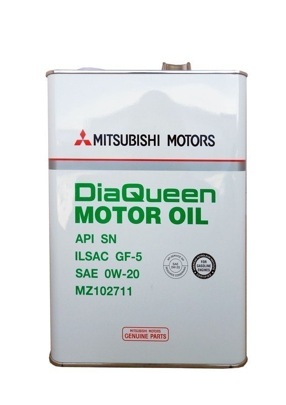 Моторное масло MITSUBISHI Dia Queen SAE 0W-20 API SN/GF-5, 4L